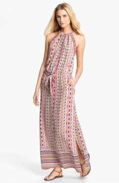 ALICE & TRIXIE 'Jullian' Print Silk Blouson Maxi Dress available at #Nordstrom