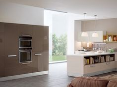 Project Adele: Style meets Functionality, with a range of colours to suit your taste by #LUBE #cucine #kitchen