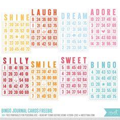 FREE Printables » Bingo Journal Cards | MissTiina.com {Blog}