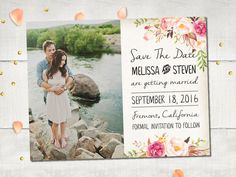 Wedding Save The Date Magnets  FloralDream Rustic by FifthVintage
