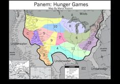 Hunger Games - Panem Map