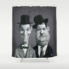 Laurel And Hardy Shower Curtain Rob Snow Curtains