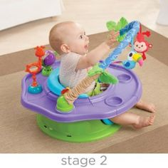 Amazon.com : Summer Infant 3-Stage SuperSeat Deluxe Giggles Island: Positioner, Activity Seat, and Booster, Neutral : Chair Booster Seats : Baby