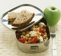 Healthy Lunch Idea: Chickpea, Tomato, and Feta Salad