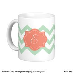 Chevron Chic Monogram Mug