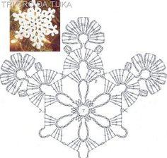 """Képtalálat a következőre: """"crochet snowflakes free patterns"""" Crochet Snowflake Pattern, Crochet Stars, Crochet Motifs, Crochet Snowflakes, Doily Patterns, Afghan Crochet Patterns, Crochet Christmas Ornaments, Christmas Snowflakes, Christmas Crafts"""