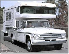 I don't care for the camper, but I used to have a truck like that....loved that old dodge!