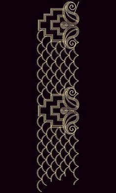 Cording Lace Embroidery Design 22159 Indian Embroidery Designs, Lace Embroidery, Hand Embroidery Patterns, Border Design, Lace Design, Android Phone Wallpaper, Bird Applique, Lace Art, Black And White Flowers