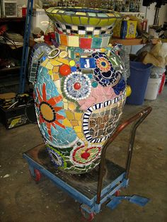 Carol's Urn - ungrouted by ratherbmosaicing, via Flickr