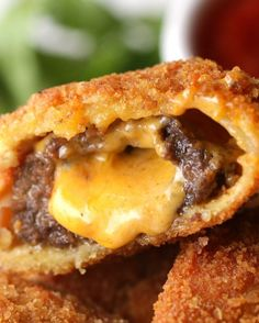 5. Cheeseburger Onion Rings   8 Appetizers You Should Make For Game Day