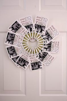 Be Different...Act Normal: Christmas Card Wreath