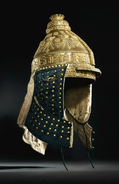 Ranjana Lipi in An extremely rare imperial parcel-gilt iron helmet, Qing dynasty, Qianlong period Medieval Armor, Medieval Fantasy, Tibetan Script, Qianlong Emperor, Chinese Armor, Space Fashion, Art Japonais, Japanese Calligraphy, Arm Armor