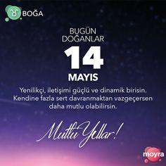 🎂14 Mayıs doğumlu olan tüm Boğa'lara mutlu yıllar! 🎆 #moyra #moyrabilir #askmoyra #astroloji #burclar #burc #bogaburcu #boga #14mayıs