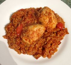 Slimming World Low Syn Baked Rice with Chicken and Chorizo Baked Rice, Boneless Chicken Thighs, Slimming World Recipes, Muffin Top, Chorizo, Risotto, Curry, Meals, Baking