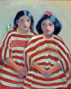 """Saatchi Art Artist Lee Chapman; Painting, """"2 Huipiles"""" #art"""