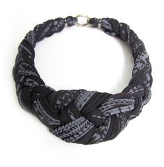 Tribal Collar Necklace Braided Jewelry Knotted Choker Fabric Women African Braid Knotted Black White Jewellery Summer Fashion Jewelry