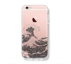 Ocean Wave iPhone 6s Clear Case iPhone 6 plus Cover iPhone 5s 5 5c Transparent Case Samsung Galaxy S6 Edge S6 Case - Acyc - 1