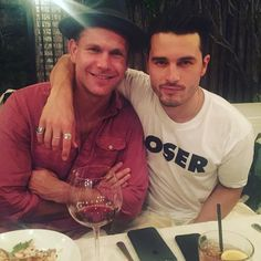 #TVD The Vampire Diaries Matthew Davis(Alaric) & Michael Malarkey(Enzo)