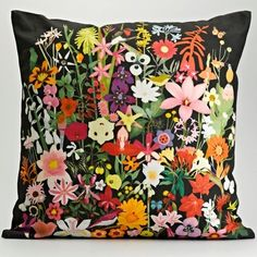 Started in 2009 by Frances White, My Favourite Colour is a surface design company based in Johannesburg. They recently launched their first collection of textiles, and I was immediately attracted to the combination of bright colors and botanical prints used to create these pillow covers…