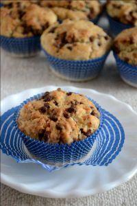 Eggless choco chip muffin