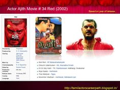Tamil actors career path: Actor Ajith Movie # 34 Red (Year 2002)