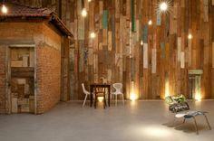 Vitor Penha -  industrial chic rústico rustic reuso de design iluminação lightning madeira de demolição tijolo brick demolition wood