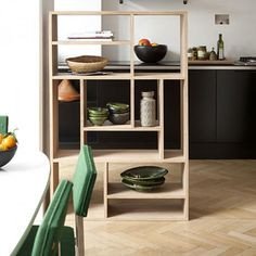 Simple Wood Furniture from Ethnicraft in Belgium : Remodelista    Make for pantry on side of refridge