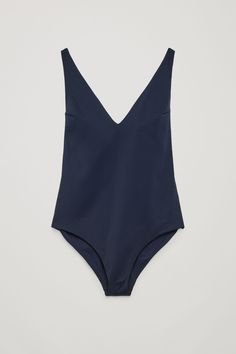 COS image 1 of V-neck swimsuit  in Navy
