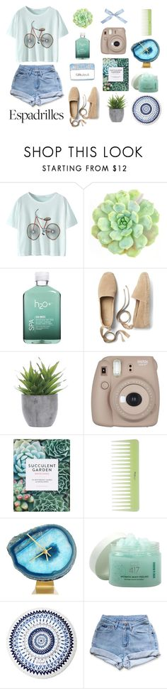 """Espadrilles: Step into Summer"" by sunshine-and-seawater ❤ liked on Polyvore featuring WALL, H2O+, Gap, Lux-Art Silks, Fujifilm, Minus 417, The Beach People, Levi's, espadrilles and polyvoreeditorial"