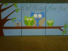 Owl painting set