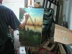 How to Paint:Landscape painting on canvas - YouTube