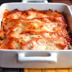Skinny vegetable lasagna