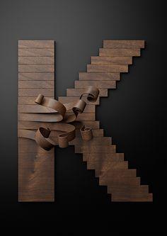 Just do it typografie van hout gemaakt