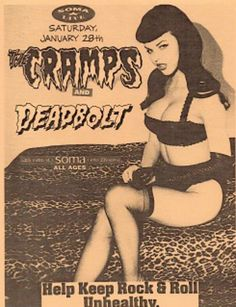 The Cramps and Deadbolt @ Soma, San Diego 1995