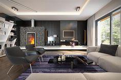 Zdjęcie projektu Goran 3 BSE1109 Modern Bungalow House, Bungalow House Plans, Small House Plans, Cinema Room, House Design, Table, Furniture, Home Decor, Houses