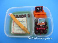 Back to school lunchbox idea: Pencil & Book Bento.  #backtoschool
