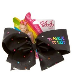 Claire's Girl's JoJo Siwa Dance It Out Signature Hair Bow Signature Hair Bow by JoJo Siwa Approximate Measurements: inches across Metal Salon Clip Recommended for ages 3 years and up JoJo Siwa Dance It Out Signature Hair Bow Jojo Siwa Hair, Jojo Siwa Bows, Jojo Bows, Jojo Hair Bows, Big Bows, Cute Bows, Disney Descendants Dolls, Girls Nail Designs, Minnie Mouse Toys