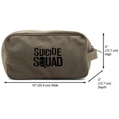 Suicide Squad Sign Canvas Dual Two Compartment Travel Toiletry Dopp Kit Bag -- See this great product.