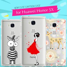>> Click to Buy << Cute Phone Case for Huawei Honor 5X Case Silicone Cover 3D Cartoon Soft TPU Case Fundas for Huawei Honor 5X Back Cover Housing #Affiliate