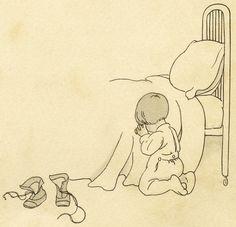 Old Design Shop ~ free digital image: bedtime prayers. Prayer Clipart, Bedtime Prayer, Boy Illustration, Catholic Kids, Hand Embroidery Designs, Embroidery Patterns, Illustrations Posters, Vintage Illustrations, Digital Stamps