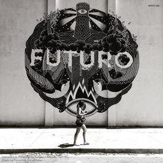 "Brand new work from BoaMistura in Barcelona: ""Futuro"" - For Murs lliures - 23.06.2015 / Photo by Fernando Alcalá Losa"