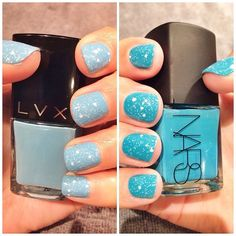 #manimonday details -- LVX Laguna + @narscosmetics Koliary topped with Jin Soon Polka White