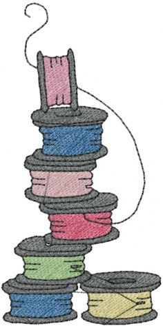 "This free embroidery design is called ""Bobbin Thread""."