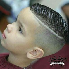 slick haircut with a quiff (little one), and not much else Lil Boy Haircuts, Boys Fade Haircut, Boys Haircut Styles, Baby Haircut, Little Boy Hairstyles, Toddler Boy Haircuts, Haircuts For Men, Hair Designs For Boys, Hair Cutting Techniques