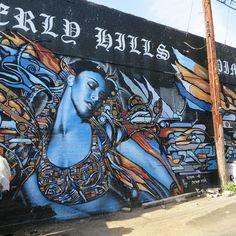 El Mac and Retna, Poinsettia and alley S of Melrose, Los Angeles Grafitti Street, Street Wall Art, Graffiti Art, Whittier Blvd, Farm Art, Urban Farming, Street Artists, Banksy, Life Skills
