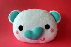 BRUNO the polar bear  soft plush pillow by FizziMizzi on Etsy, $49.00