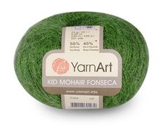 Kid Mohair Fonseca from YarnArn. High Quality Mohair Turkish Yarn for knitting. Pack of 10 ( ten ) skeins. Free Shipping