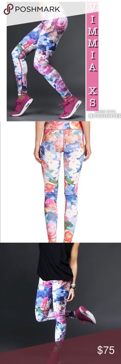 FINAL DROP, VIMMIA LEGGINGS, NWT, X-SMALL, FLORAL VIMMIA ACTIVEWEAR LEGGINGS NWT SIZE X-SMALL (XS) CHRISTINE BULLOCK COLLECTION FULL LENGTH GORGEOUS VIBRANT FLORAL PRINT 🌺  Smoke and Pet free home! 💕 Vimmia Pants Leggings