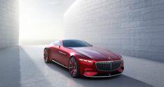 Mercedes-Maybach 6 Studie Paris - #mercedesbenz #mercedes #benz #maybach #vision #conceptcar #coupe #sportscar #car #electricvehicle #luxury #style #red