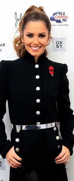 Cheryl Cole,alexander mcQueen military style